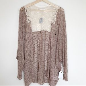 Buckle Coco + James Knit Cardigan w/Lace Detail